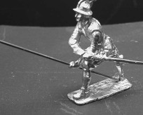 1601 E3 Pikeman in position against cavalry