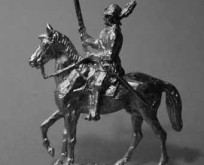1630 E2 Trooper with helmet without feathers, trotting horse