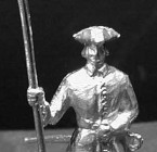 1701 A4 Officer with spontoon, standing