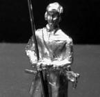 1701 E11 Pikeman with karpus cap, standing, pike straight up