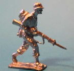 2148 E2 USA Private with rifle under arm Infantry 1942, marching, field equipment