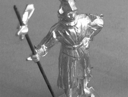 197 E Guardsman with helmet and halberd, at ease The Pope's Swiss Guard